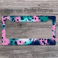 Мosaic multicolored  car license frame
